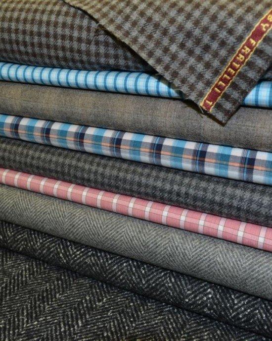 Костюмные цветные ткани