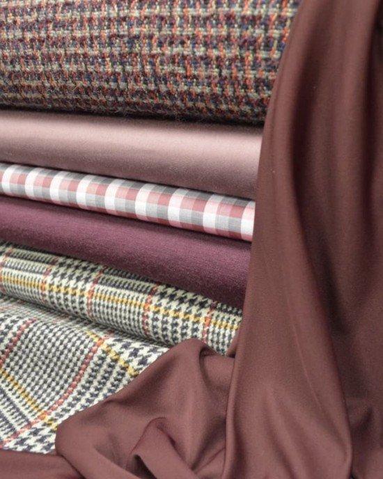 Костюмные цветные ткани теплых оттенков