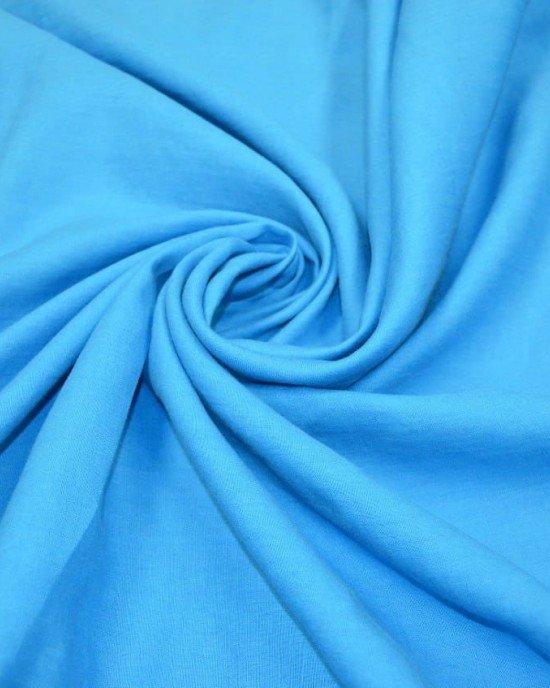 Ткань лён голубой