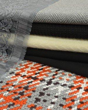Фактурные пальтовые ткани