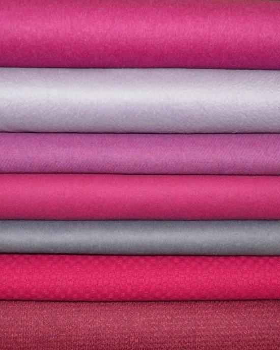Розовые пальтовые ткани