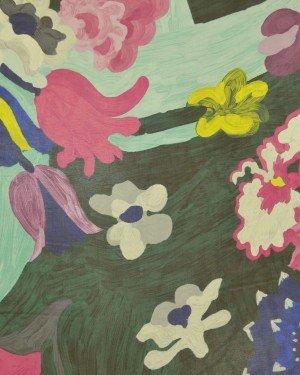 Ткань шифон с цветочным принтом