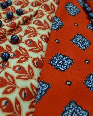 Плательные вискозные ткани с принтом