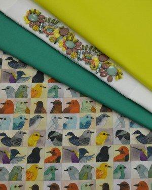 Плательно-блузочные ткани с рисунком