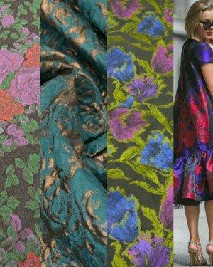 Жаккардовые ткани с цветочным узором