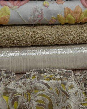 Жаккардовые ткани с вышивкой