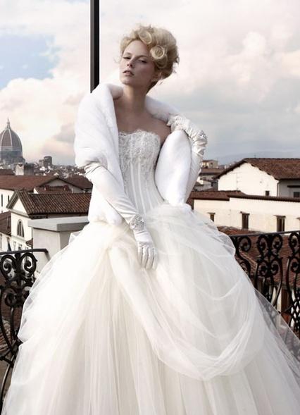 зимнее свадебное платье спб
