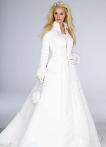 свадебное платье на зиму
