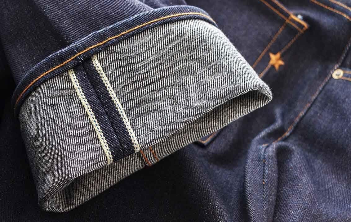 джинсы из сэлвидж денима коричневый